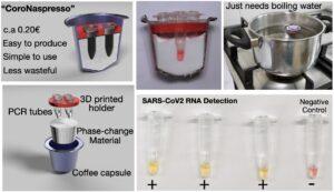 Coronatest av Nespressokapsel och vax.